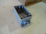 NEW Box Qty 13, 1 / 2 in NON Metallic Molded Electrical Box with mounting feet, Thomas & Betts