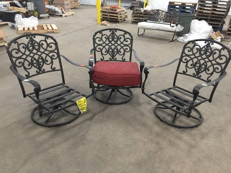 Peachy Lot Of 3 Hampton Bay Edington Swivel Rocker Patio Lounge Caraccident5 Cool Chair Designs And Ideas Caraccident5Info