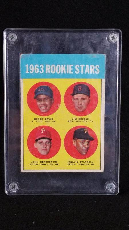 1963 Topps Willie Stargell Rookie Card Higher End Sports
