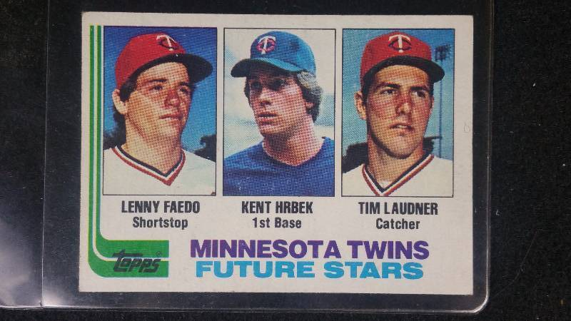 1982 Topps Kent Hrbek Tim Laudner Rookie Card Higher End Sports