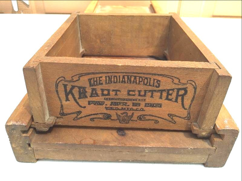 Huge Antique 1905 Indianapolis Kraut Cutter Advertising Cabbage