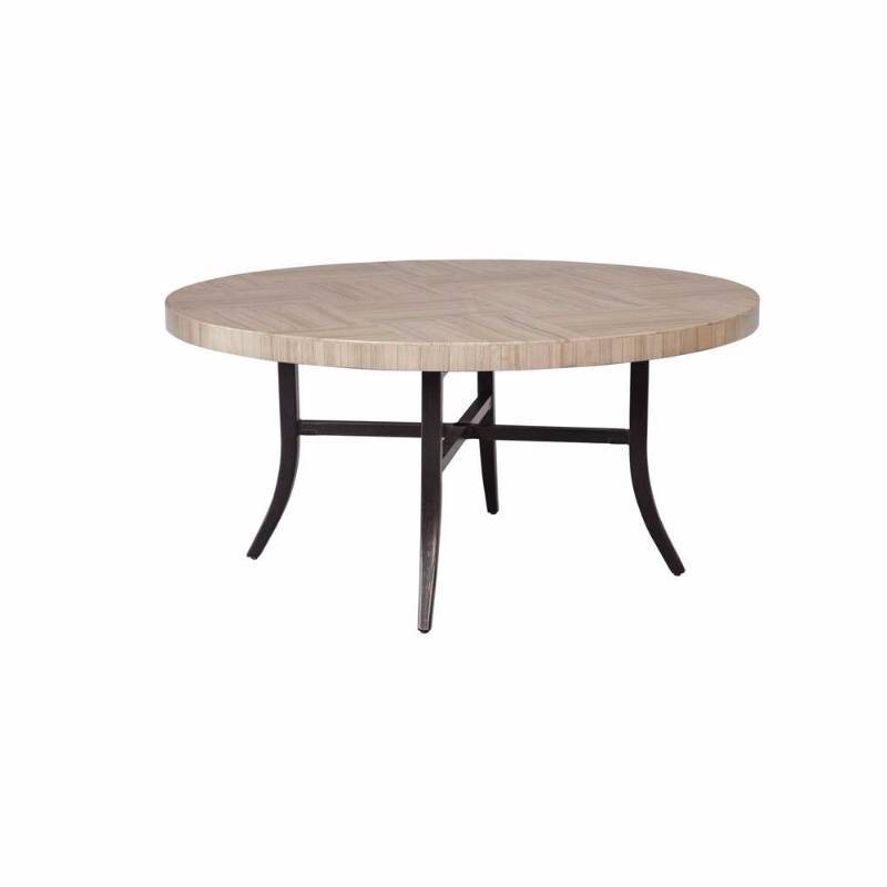 Brown jordan greystone patio dining table with umbrella for Outdoor furniture hwy 7