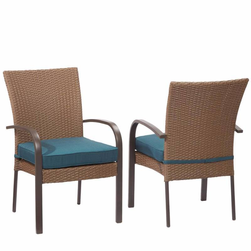 Hampton bay corranade stackable wicker outdoor dining for Outdoor furniture hwy 7