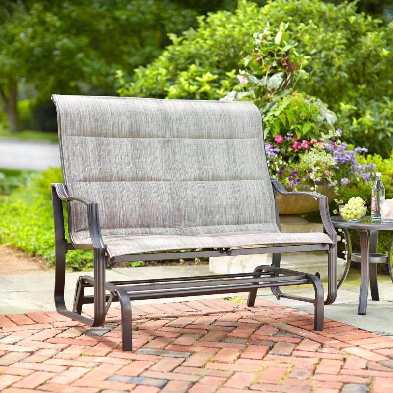 Hampton bay statesville patio double glider outdoor for Outdoor furniture hwy 7