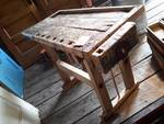 Antique Carpenters Table with Wood vise