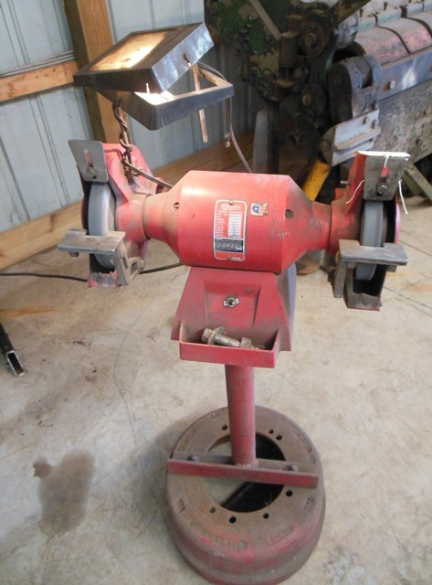 Milwaukee Bench Grinder With Standing Base Drum Truck