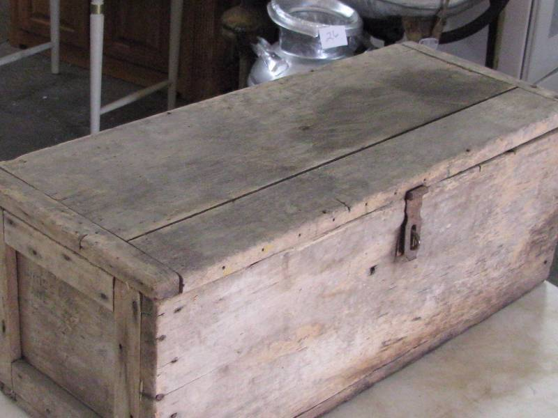 Wood Carpenters Tool Box Antique Collectible Consignment 17