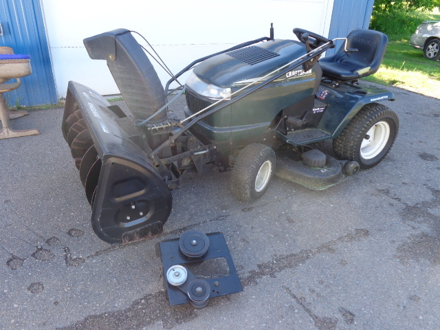 Craftsman Lawn Tractor And Snowblower Attachment Lawn Tractor