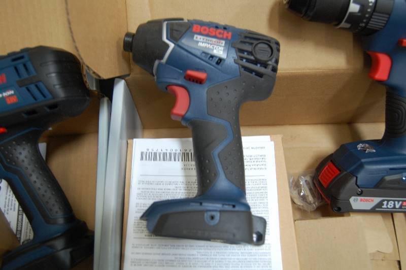 brand new bosch 18v tool set fastenal clearance outlet auction 18 k bid. Black Bedroom Furniture Sets. Home Design Ideas