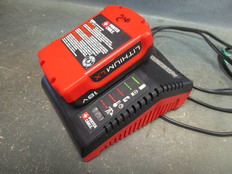 Porter Cable Charger and Battery