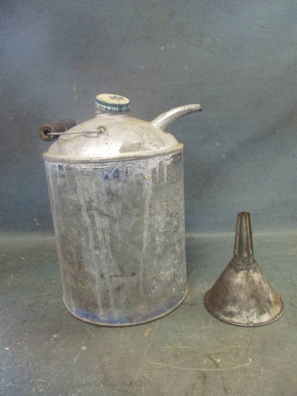 Antique Can with Spout and Funnel