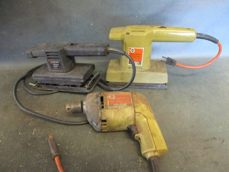 Electric Sanders and Drill