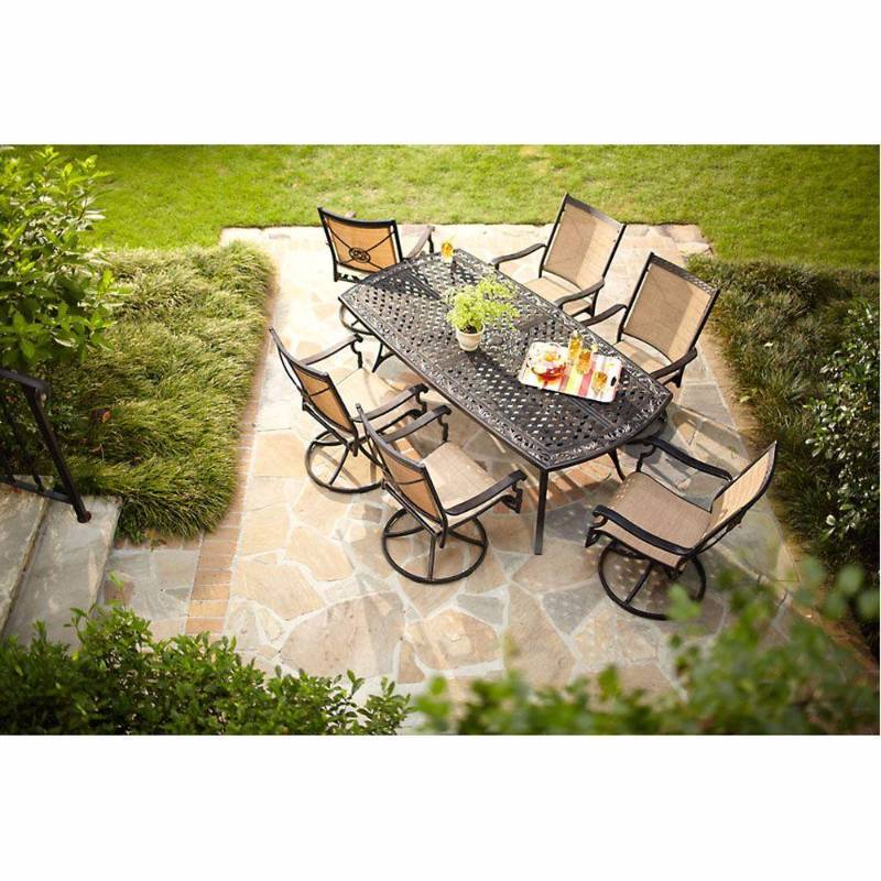 Hampton Bay Solana Bay 7 Piece Patio Dining Set Open Box Never Used | KX  REAL DEALS ST PAUL TOOLS ,PATIO FURNITURE , BATH AND KITCHEN , AND MORE |  K BID