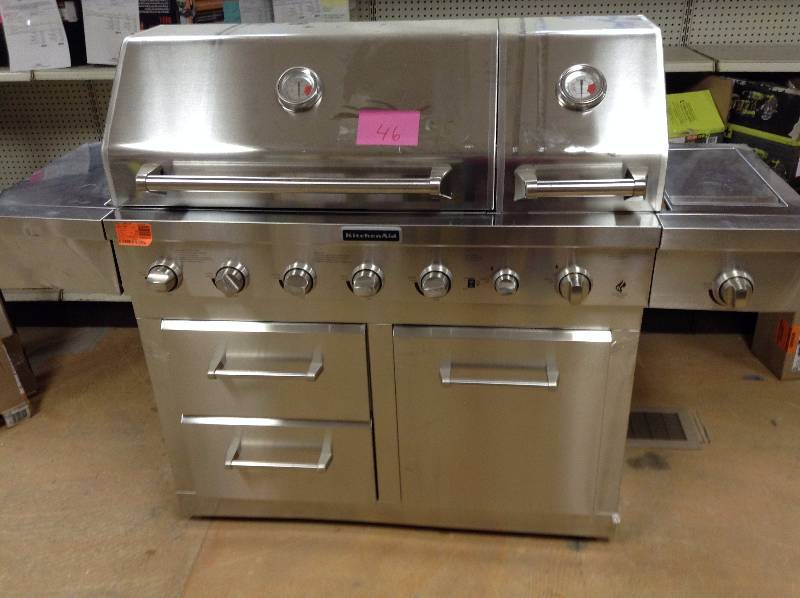 KitchenAid 6-Burner Dual Chamber Propane Gas Grill in ...