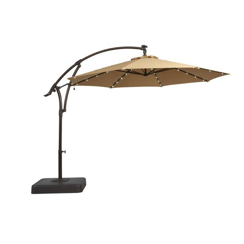 Hampton Bay 11 Ft. Solar Offset Patio Umbrella In Cafe Open Box Never Used  | KX REAL DEALS ST PAUL TOOLS ,PATIO FURNITURE , BATH AND KITCHEN , AND  MORE | K  ...