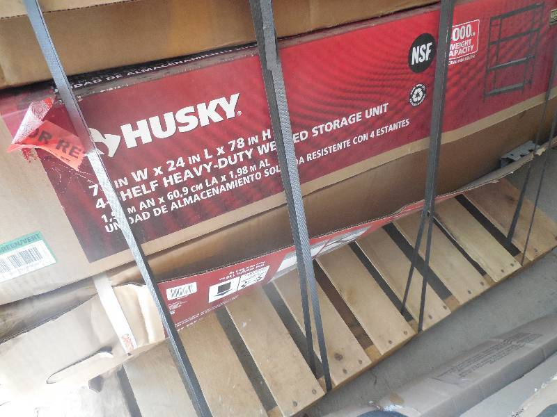 Husky 77 In W X 78 In H X 24 In D Steel Garage Shelving