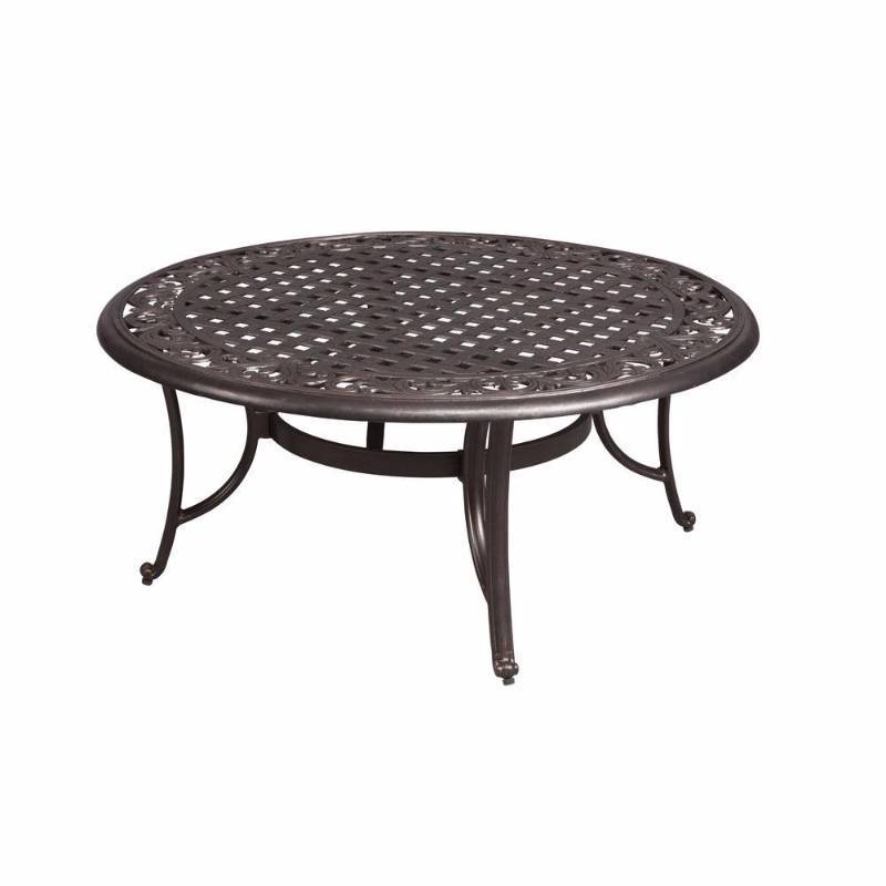 Hampton bay edington 42 in round patio coffee table for Outdoor furniture hwy 7