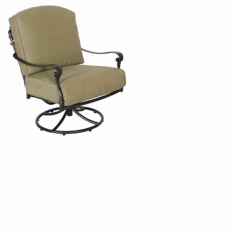 Hampton bay edington swivel rocker patio lounge chair with for Outdoor furniture hwy 7