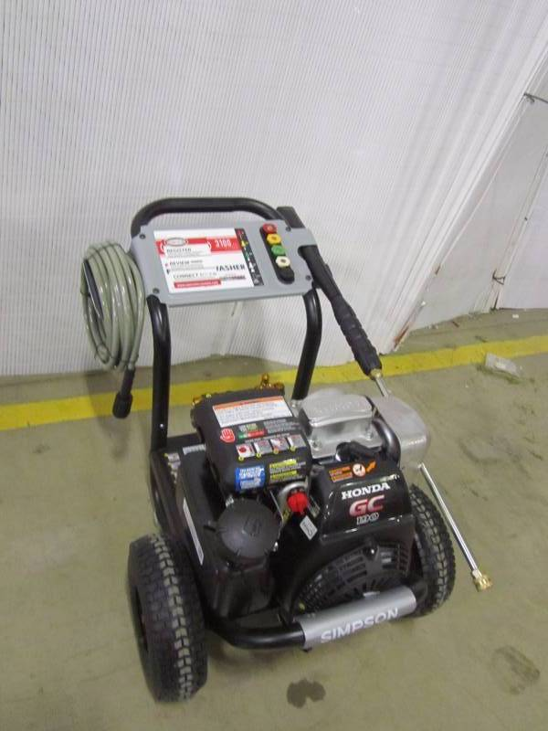 Simpson Honda GC190 MegaShot 3100 PSI 2.5 GPM Gas Pressure Washer | MN Home  Outlet Auctions #9 | K BID