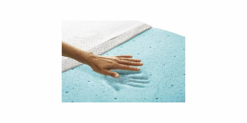 New 2 Temperature Regulating Memory Foam Mattress Topper