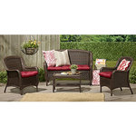 alcove 4pc. Wicker Conversation Set Brown - Outdoor Patio Furniture