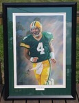 "Very Rare Brett Favre / Andrew Goralski Autographed ""A Legendary Moment"" Athletes Edition Print"