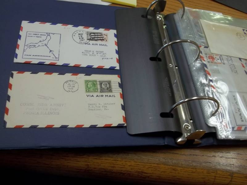 First Day Issue Air Mail Stamps with Binder and other stamps