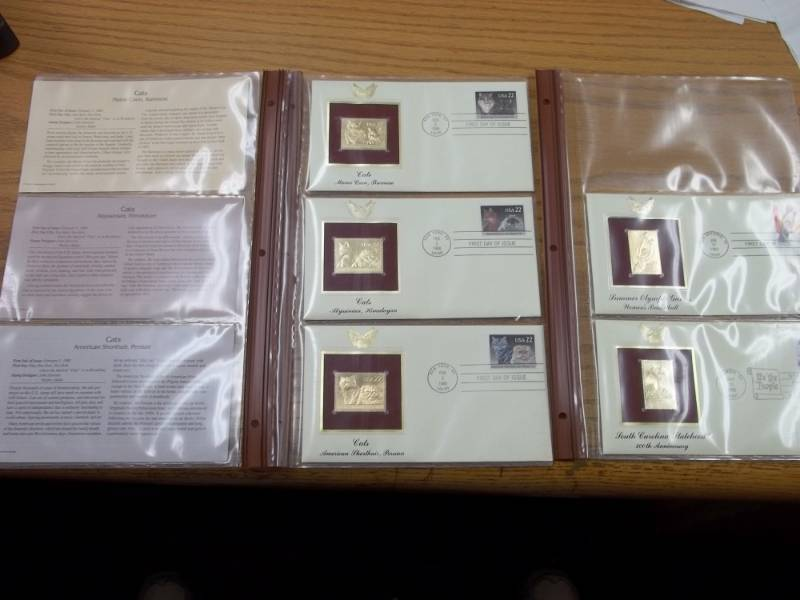 First Day of Issue 22K Gold Proof Replicas Set of 5 Will  Fit into Binder of Lot 32