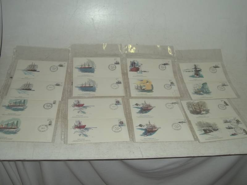 16 Assorted First Day Issue Ship Stamps