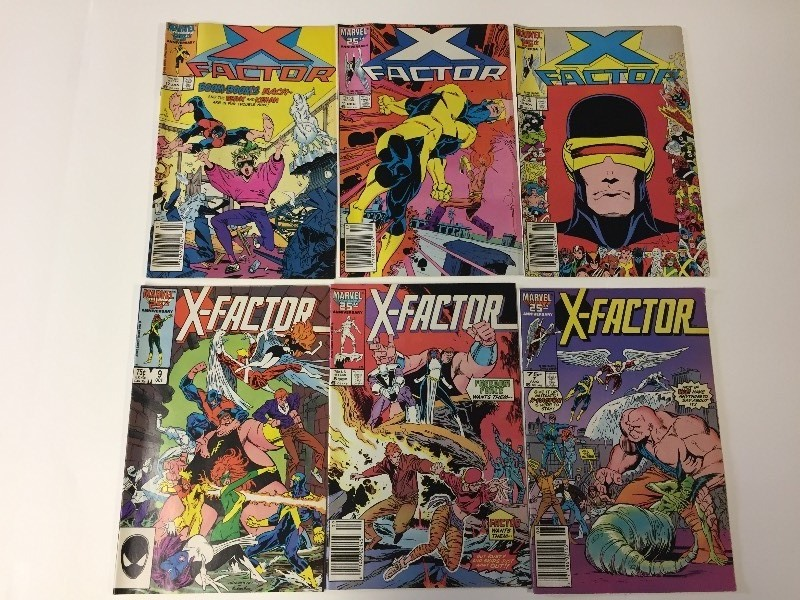 6 Marvel X-FACTOR Comic Books Vintage 75 cents