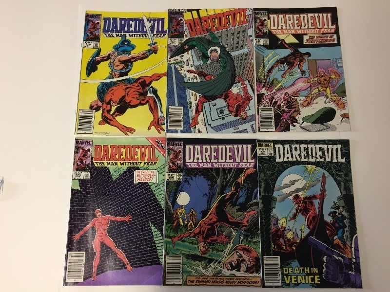 6 Marvel DAREDEVIL Comic Books 65 cents