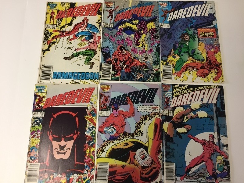 6 Marvel DAREDEVIL Comic Books 75 cents