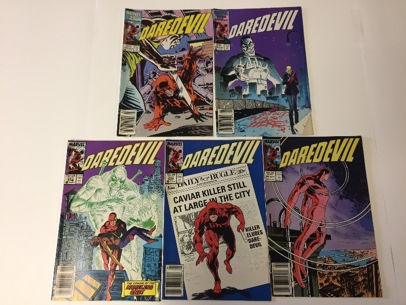 5 Marvel DAREDEVIL Comic Books 75 cents