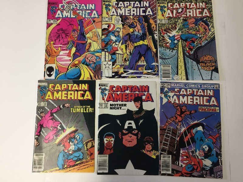 6 Marvel CAPTAIN AMERICA Comic Books 60 cents