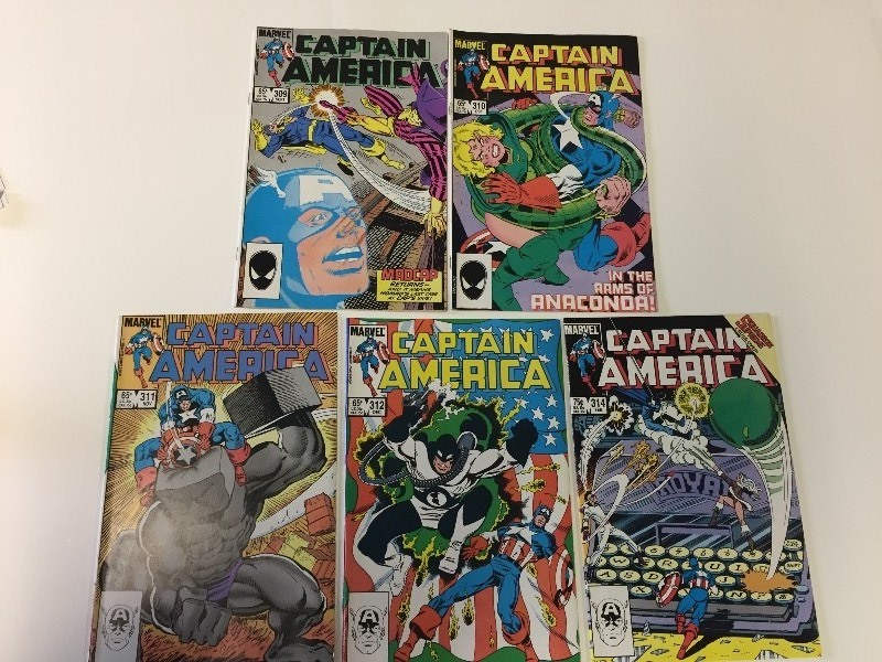6 Marvel CAPTAIN AMERICA Comic Books 65 & 75 cents