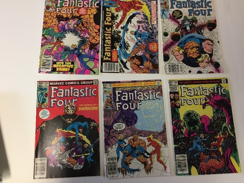 6 Marvel FANTASTIC FOUR Comic Books 60 cents