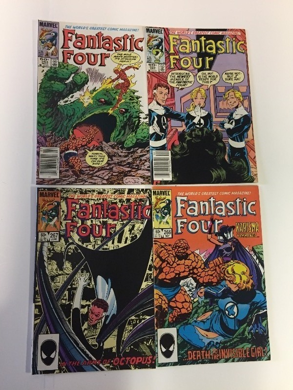 4 Marvel FANTASTIC FOUR Comic Books 60 & 65 cents