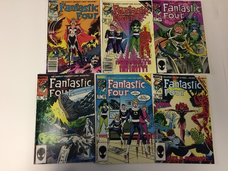 6 Marvel FANTASTIC FOUR Comic Books 65 cents