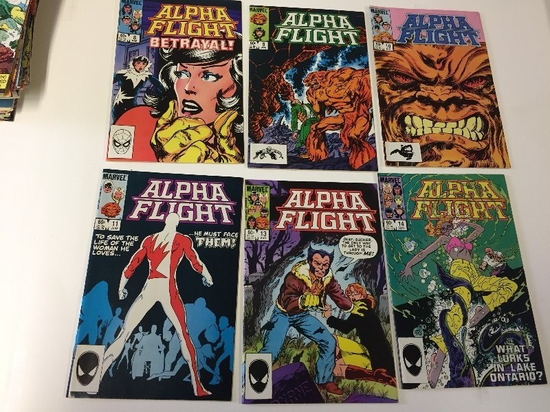 6 Marvel ALPHA FLIGHT Comic Books 60 cents