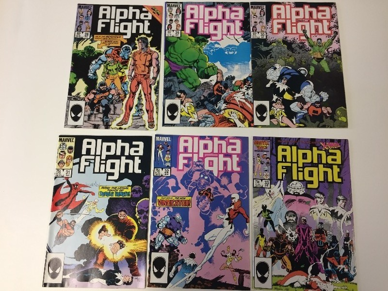 6 Marvel ALPHA FLIGHT Comic Books 65 & 75 cents