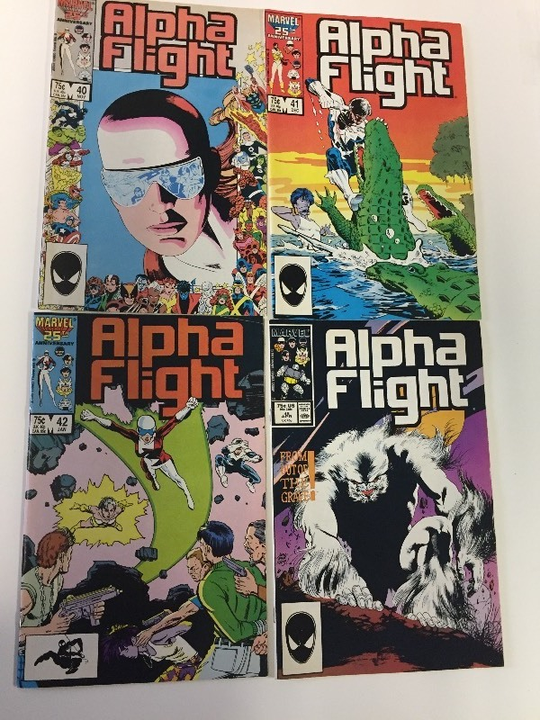 4 Marvel ALPHA FLIGHT Comic Books 75 cents