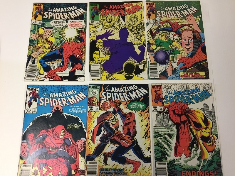 6 Marvel THE AMAZING SPIDER-MAN Comic Books 60 cents