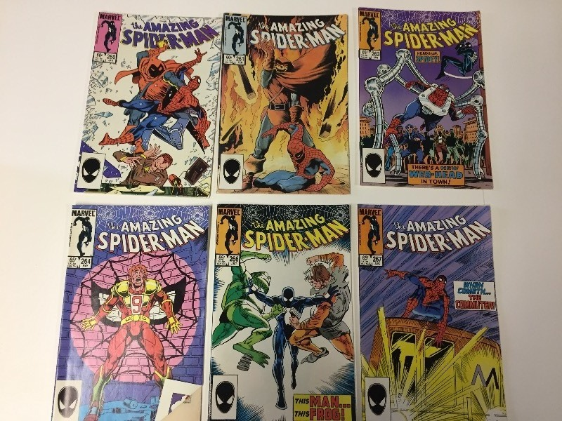 6 Marvel THE AMAZING SPIDER-MAN Comic Books 60 & 65 cents