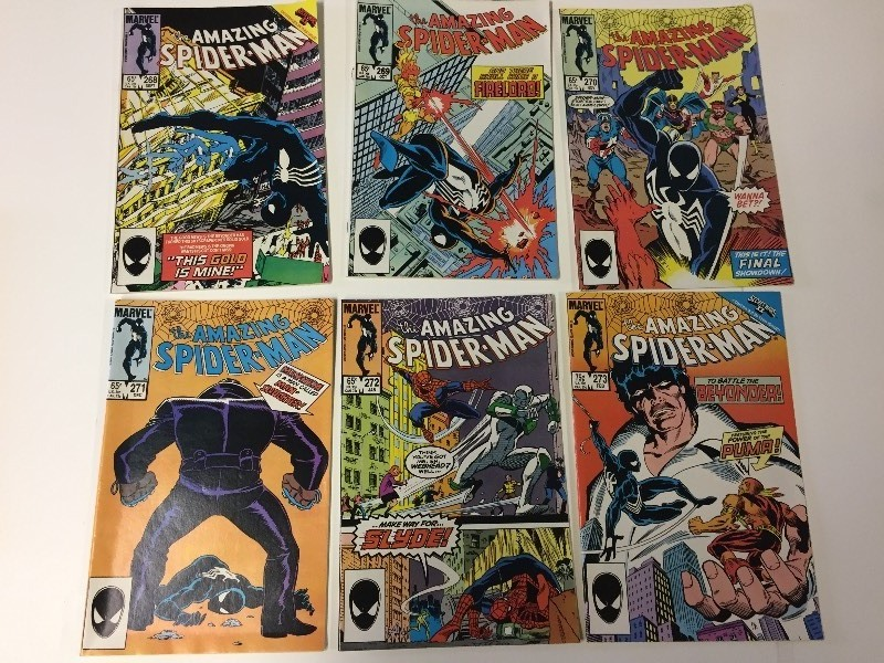 6 Marvel THE AMAZING SPIDER-MAN Comic Books 65 cents