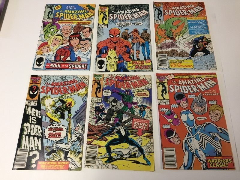 6 Marvel THE AMAZING SPIDER-MAN Comic Books 75 cents