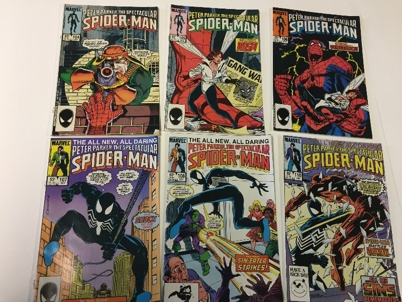 6 Marvel Peter Parker THE SPECTACULAR SPIDER-MAN Comic Books 65 cents