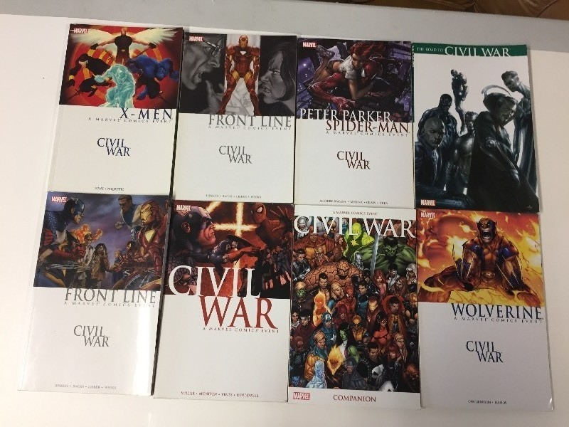 8 Marvel Comics CIVIL WAR books