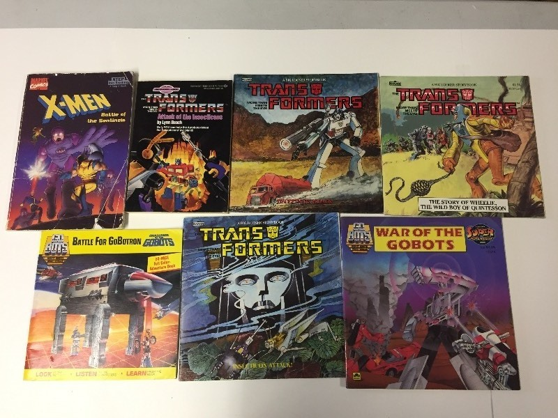 Transformers, X-Men, Go-Bots Paperback Books