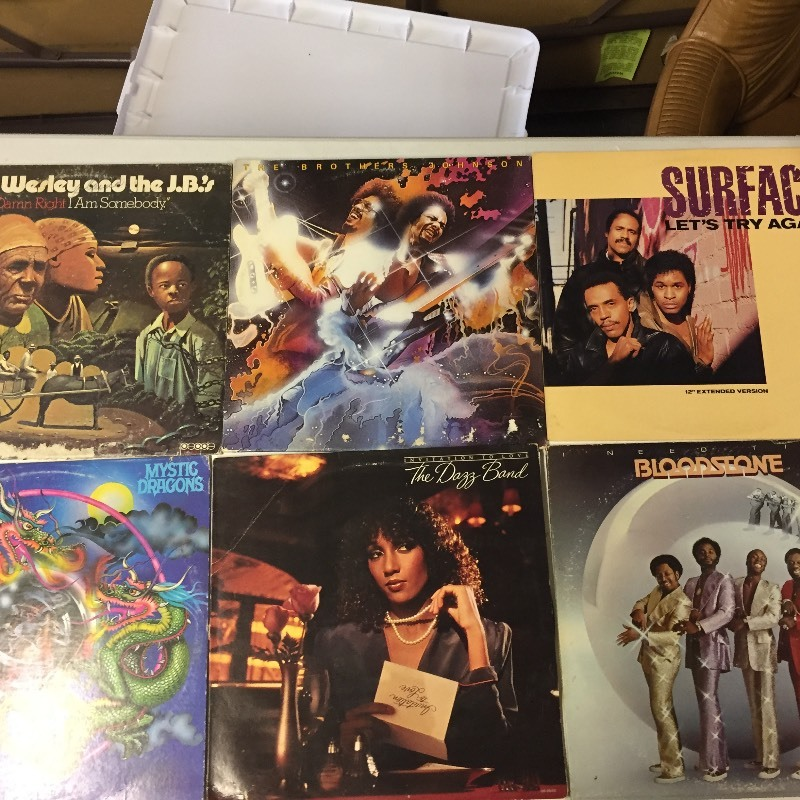 6 Vinyl Record Albums -Wesley, Brothers Johnson, Surface, Bloodstone, Dazz Band, Mystic Dragons