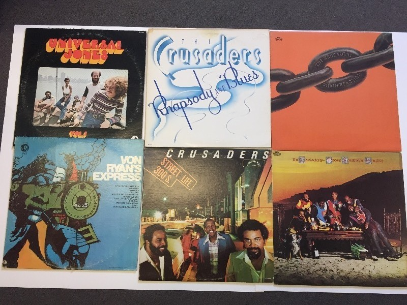 6 Vinyl Record Albums  - Crusaders, Von Ryan, Universal Jones